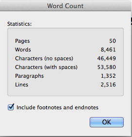 My PhD Wordcount