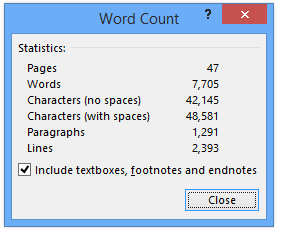 PhD Word Count